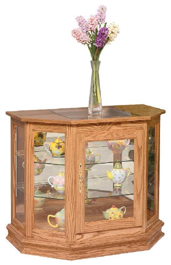 Angled Small Curio Cabinet From Dutchcrafters Amish Furniture