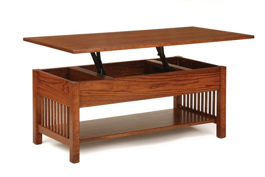 Classic Mission Rectangular Coffee Table With Lift Top From