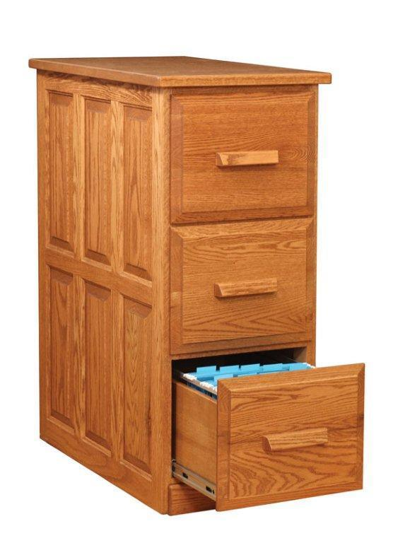 Amish Traditional Three Drawer Vertical File Cabinet