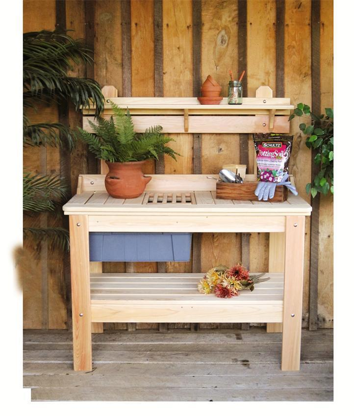 Cypress Outdoor Potting Table From Dutchcrafters Amish