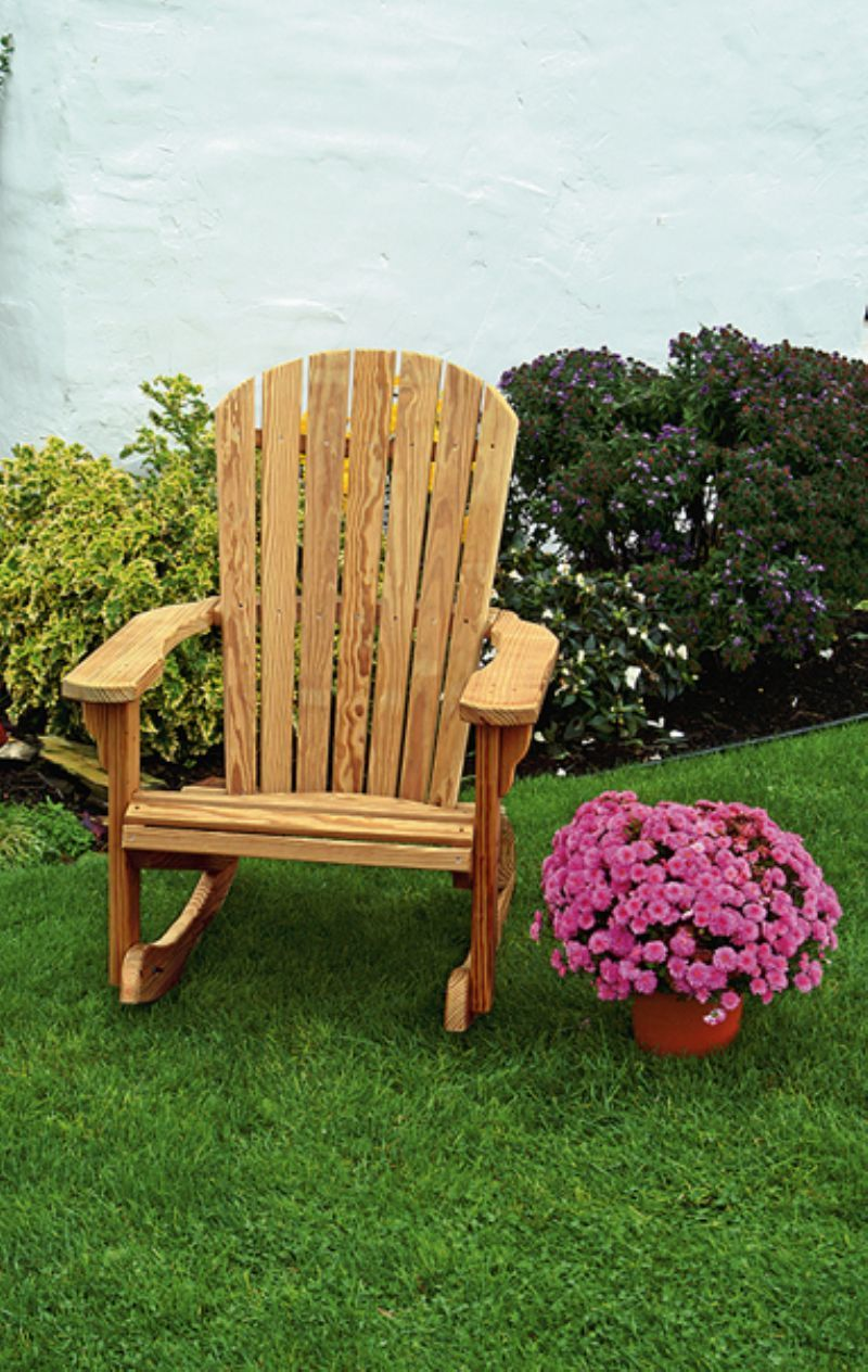 Amish Wood Fan Back Rocking Chair From Dutchcrafters Amish