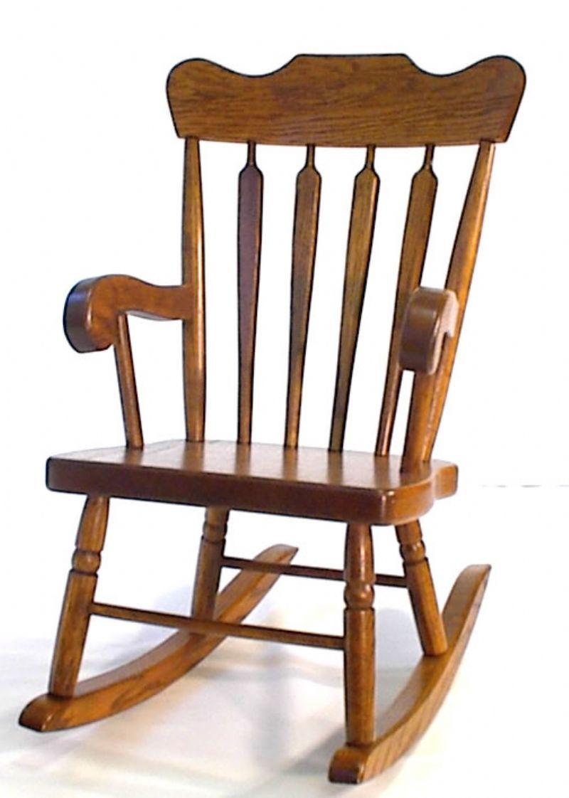 Incredible Amish Arrow Back Oak Wood Kids Rocking Chair Caraccident5 Cool Chair Designs And Ideas Caraccident5Info