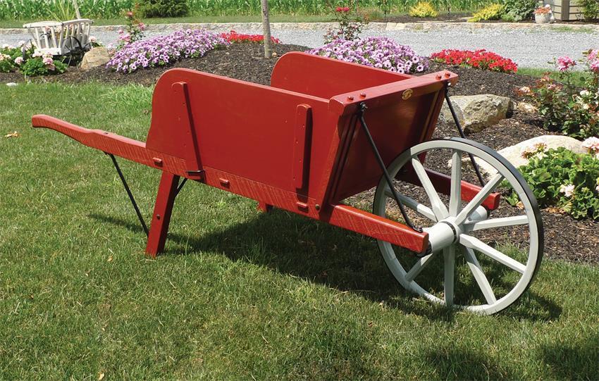 Medium Rustic Wheelbarrow By Dutchcrafters Amish Furniture
