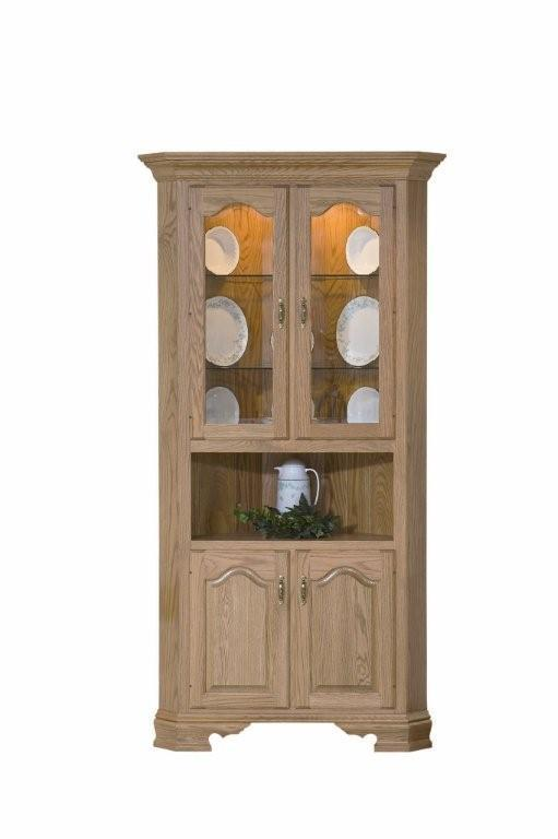 Solid Wood Country Corner Dining Hutch From Dutchcrafters