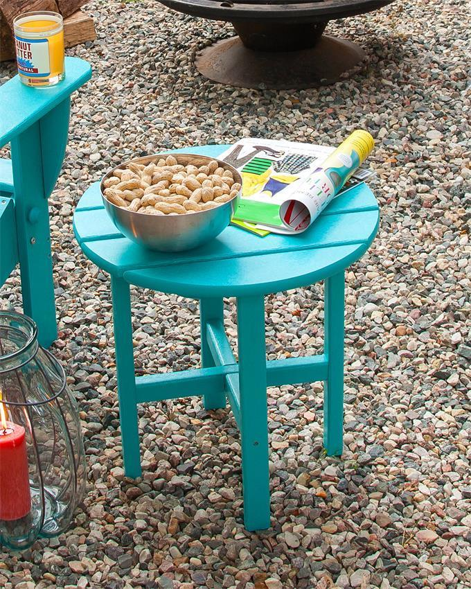 Polywood Round Patio Side Table From Dutchcrafters Amish Furniture