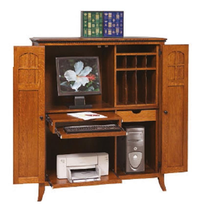 mt eaton solid wood computer armoire by dutchcrafters. Black Bedroom Furniture Sets. Home Design Ideas