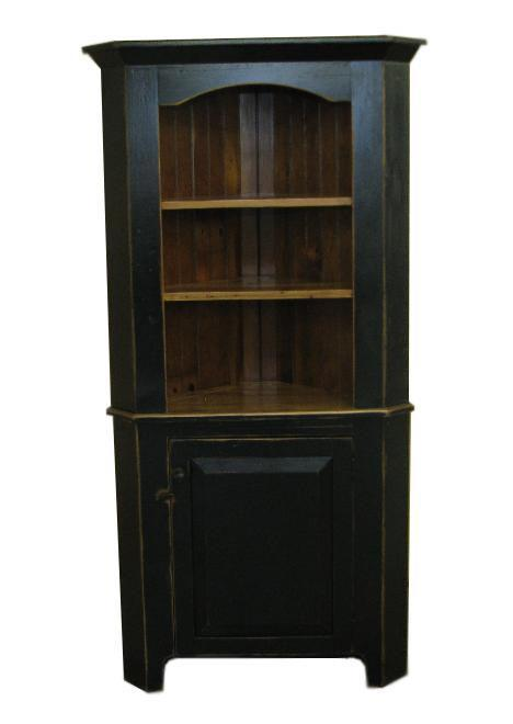 Barnwood Corner Buffet With Hutch Top From Dutchcrafters Amish
