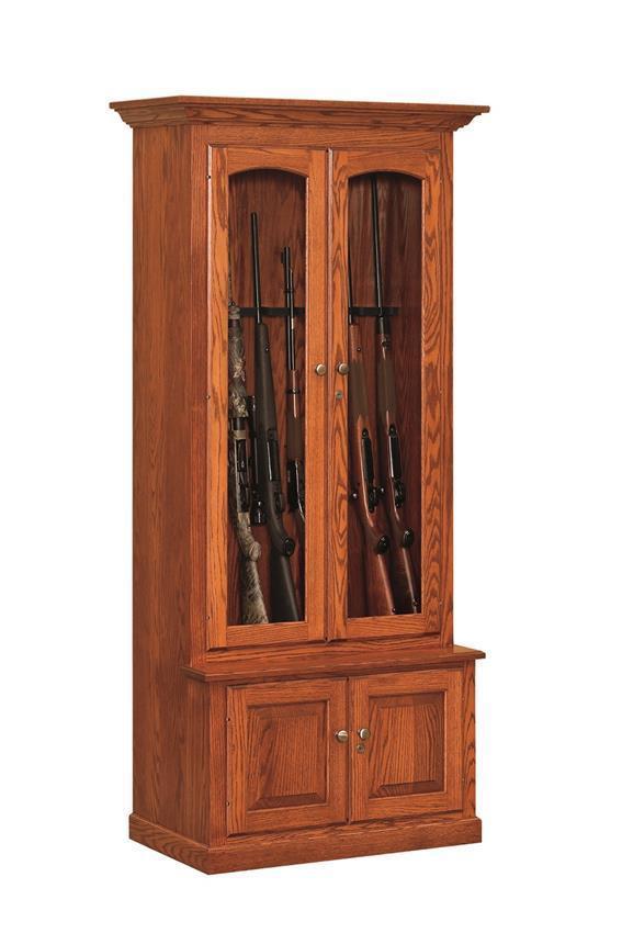 Blue Ridge American Made Gun Cabinet 8 Or 10 Gun Capacity