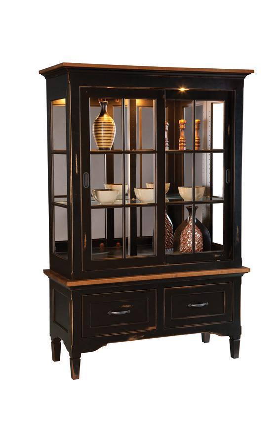 Brown Maple Lexington China Cabinet