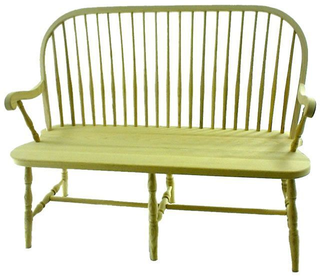 Round Spindle Windsor Bench From Dutchcrafters Amish Furniture