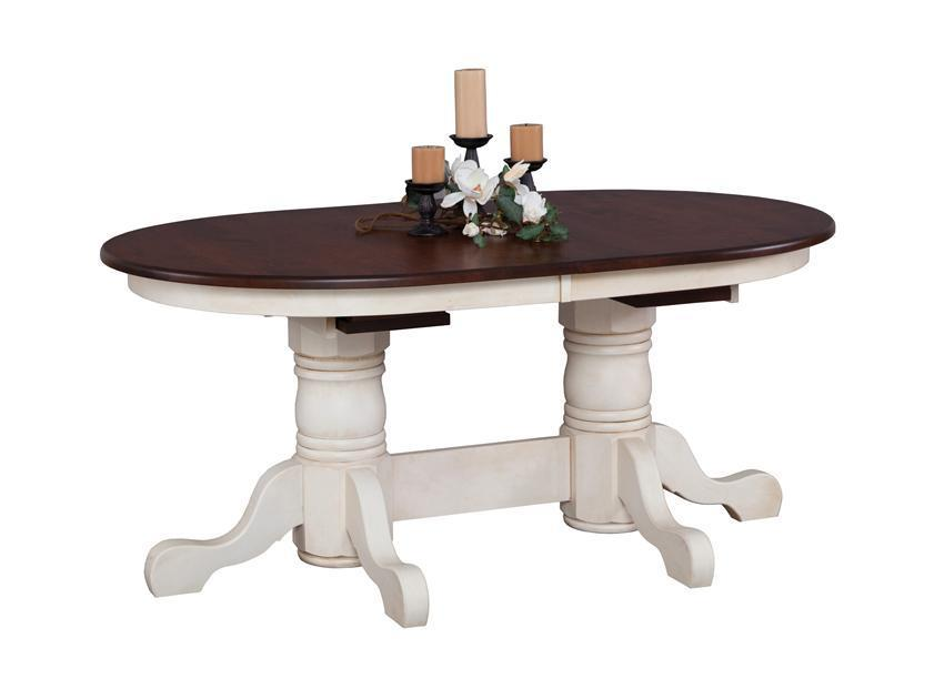Nantucket Double Pedestal Dining Table, Pedestal Dining Room Tables