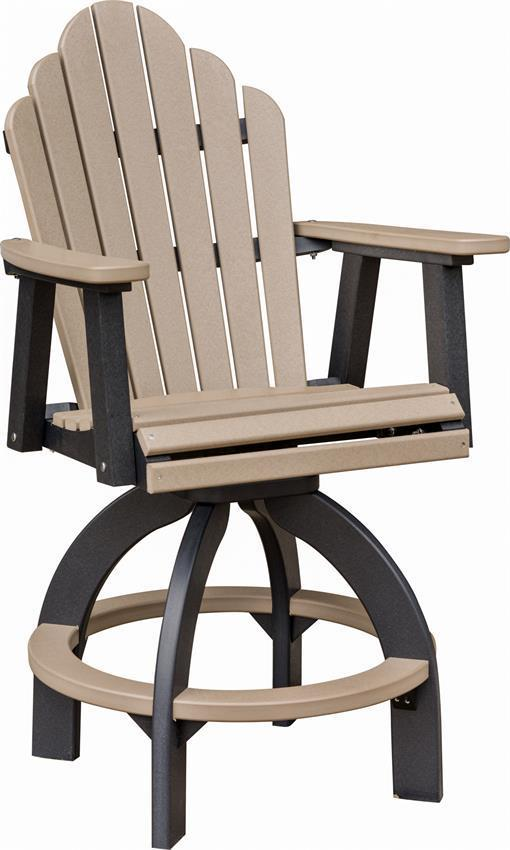 Berlin Gardens Cozi Back Outdoor Swivel Poly Bar Stool From