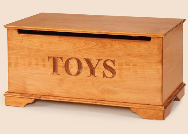 Wood Effect Kids Playroom Bedroom Storage Chest Trunk: Maple Wood Toy Chest From DutchCrafters Amish Furniture