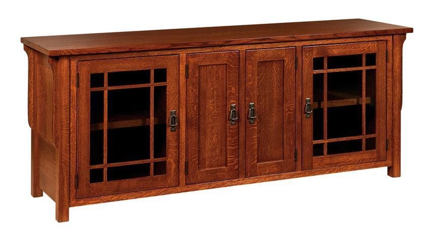 Lancaster Mission Solid Wood Tv Stand From Dutchcrafters