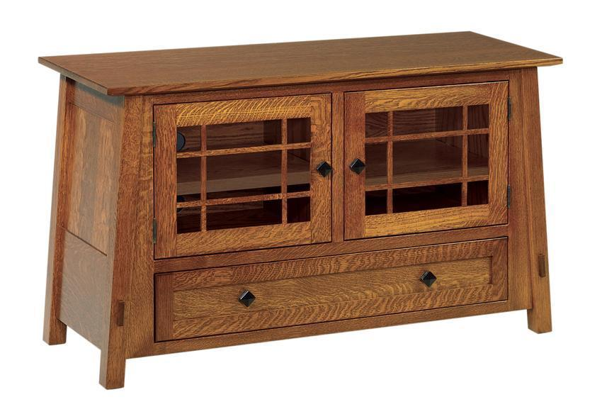 Mccoy Mission Tv Stand With Drawer From Dutchcrafters