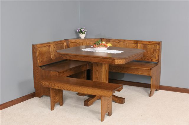 Mission Breakfast Nook Set From Dutchcrafters Amish Furniture