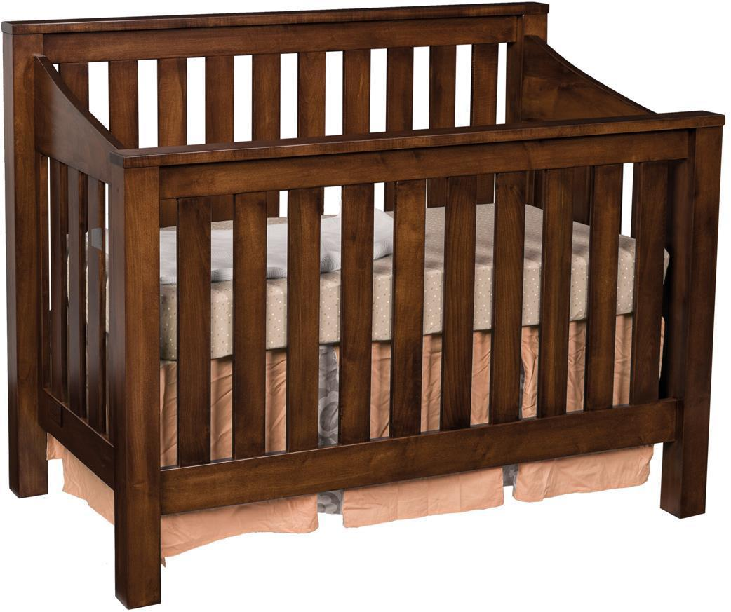 Mission Convertible Crib From DutchCrafters Amish Furniture