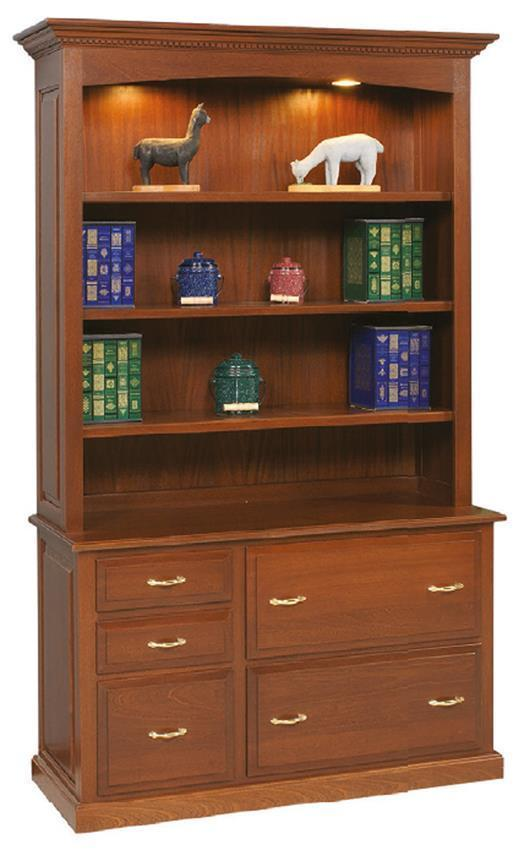 Amish Credenza With Bookcase
