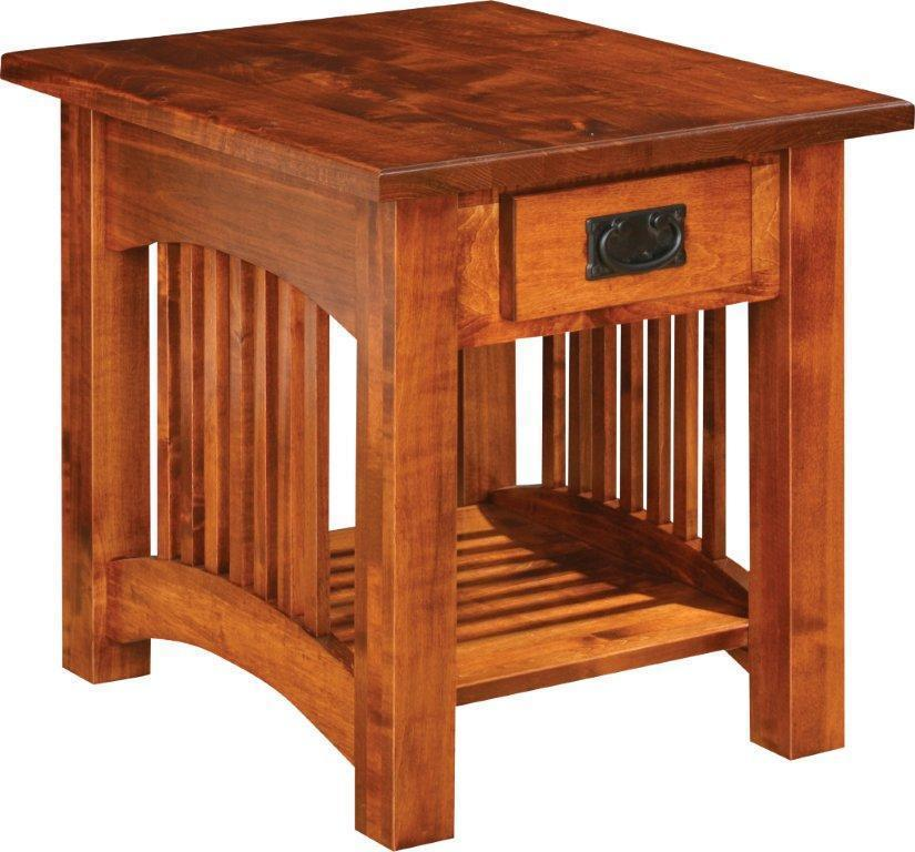 Classic Mission End Table From Dutchcrafters Amish Furniture