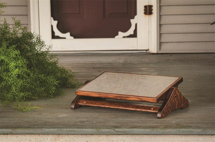 Adjustable Wooden Footrest From Dutchcrafters Amish Furniture