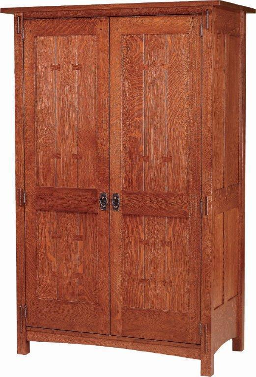 Solid Wood Post Reproduction Mission Armoire From