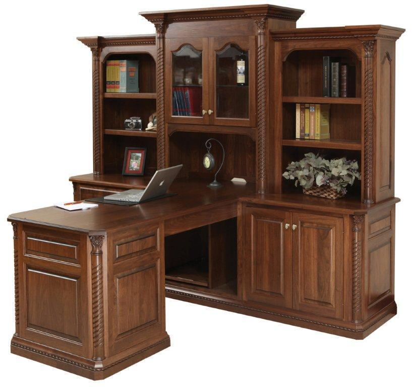 Lexington Partner Desk With Optional Three Piece Hutch From