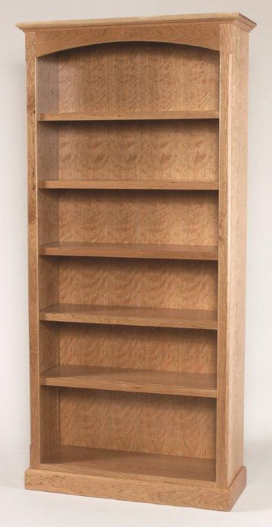 Solid Wood Shaker Style Bookcase From Dutchcrafters Amish Furniture