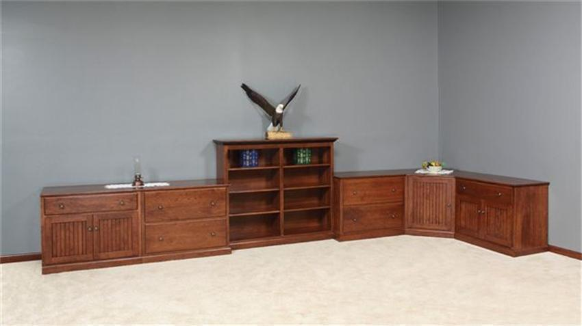 Mission Style Amish Office Furniture Set Made In Usa