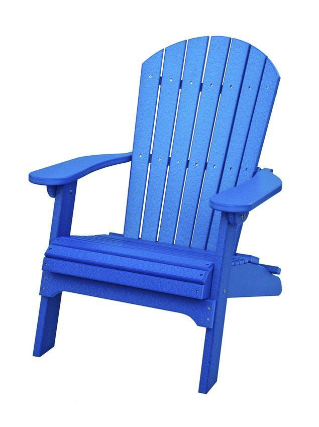 Amish Poly Adirondack Folding Chair From Dutchcrafters