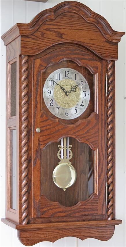 Amish Made Heartland Wall Clock Quartz Dual Chime From