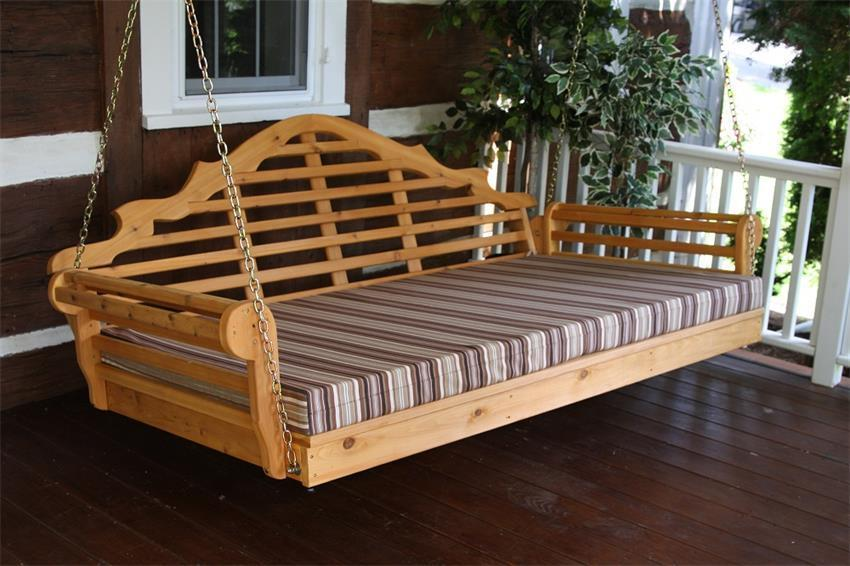 Amish Cedar Wood 75 Quot Marlboro Single Mattress Swing Bed From