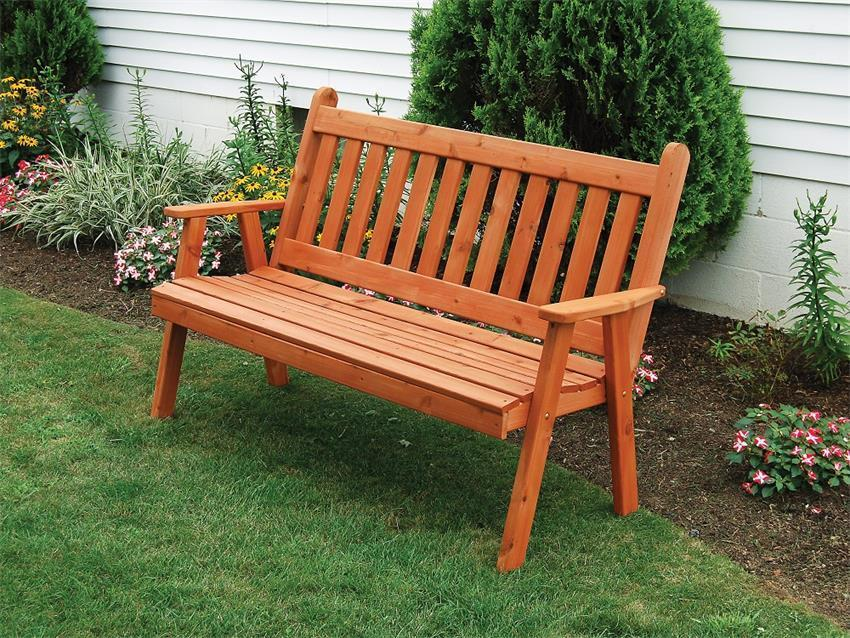 Cedar Traditional English Bench From Dutchcrafters Amish Furniture