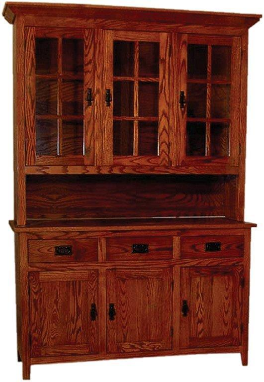 Mission Style Three Door Oak Hutch From Dutchcrafters