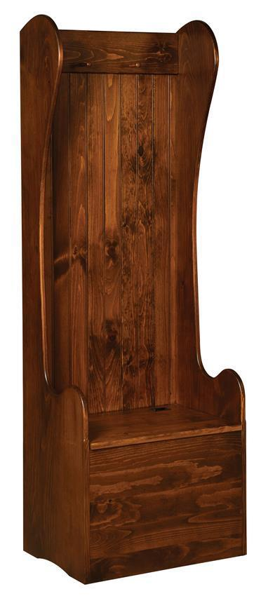 2 Settle Amish Pine Entryway Storage Bench