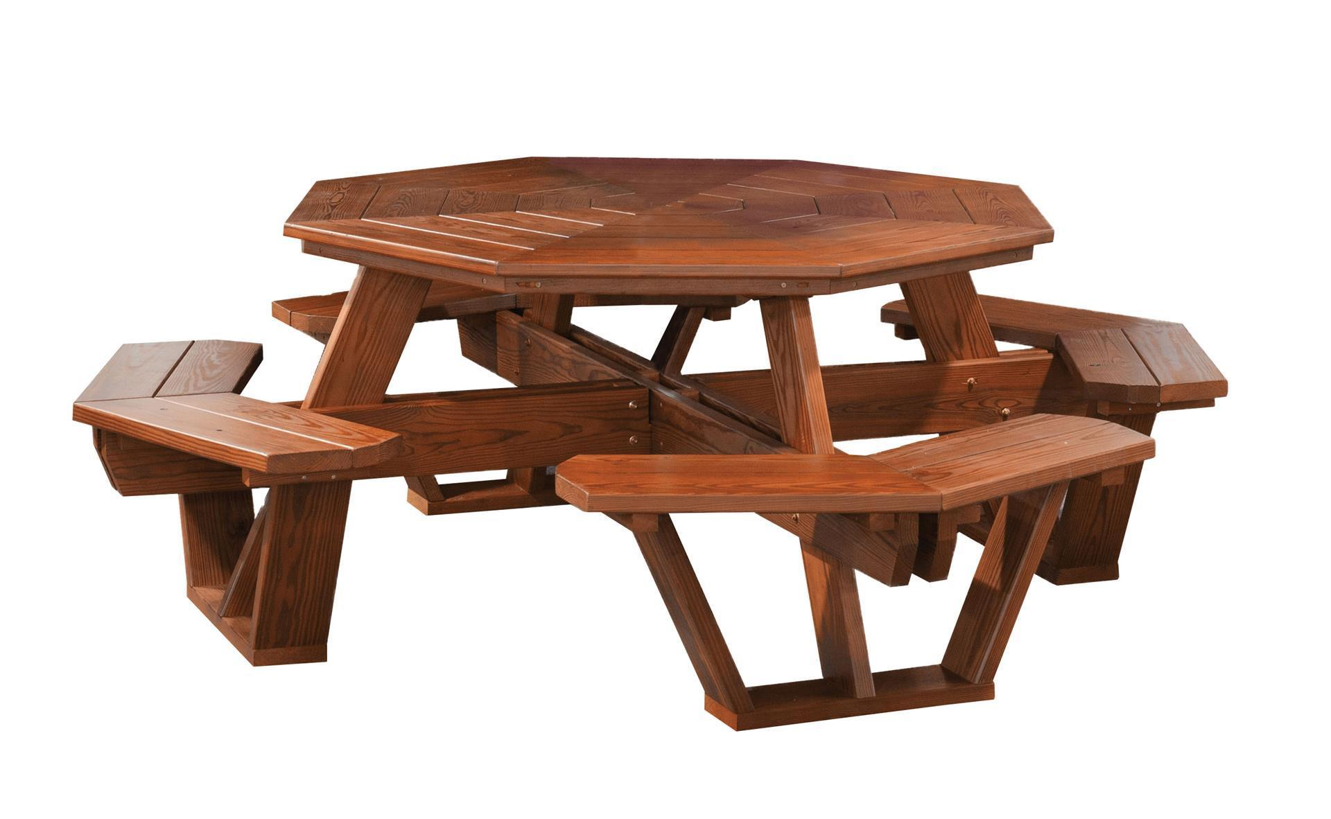Cedar Wood Octagon Picnic Table From Dutchcrafters Amish