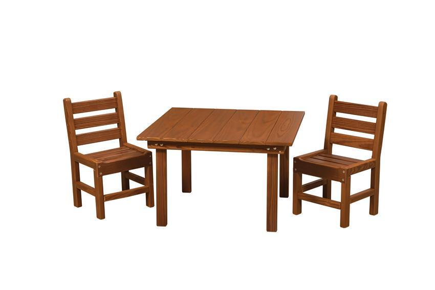 Remarkable Amish Cedar Wood Kids Table Set Alphanode Cool Chair Designs And Ideas Alphanodeonline