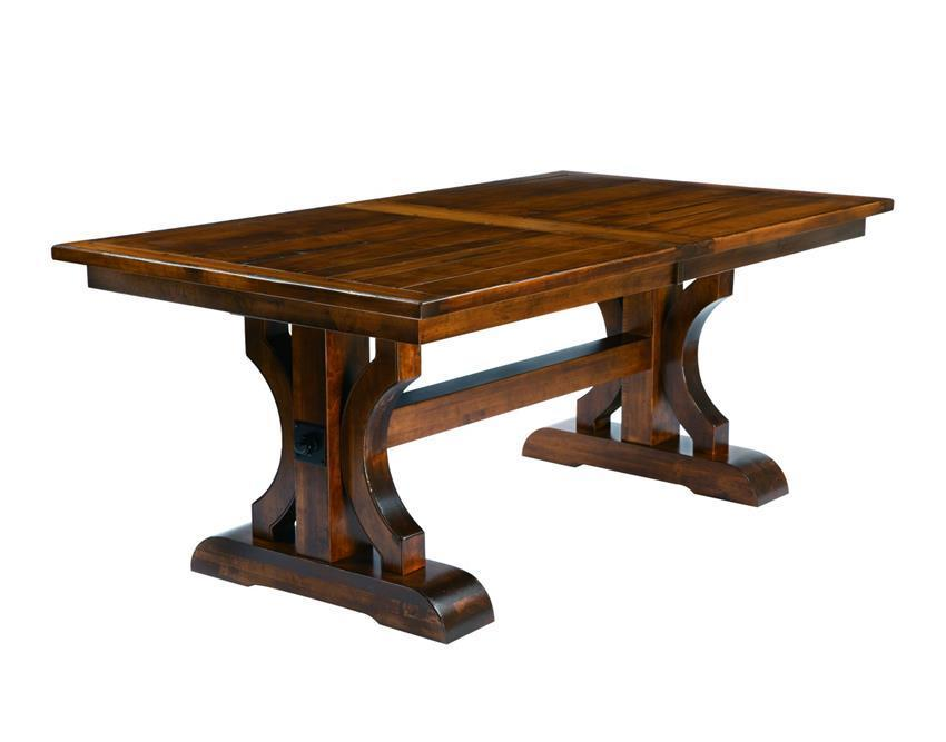 Barstow Trestle Table with Plank Top