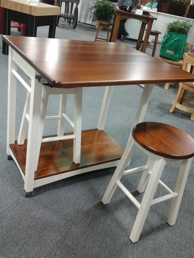 Superb Amish Solid Wood Kitchen Island With Two Bar Stools Download Free Architecture Designs Grimeyleaguecom