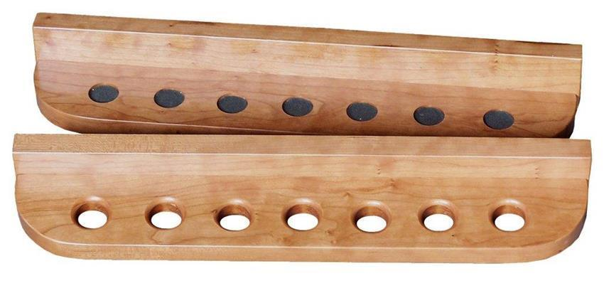 Amish handcrafted wall mount cue rack for Cue rack plans