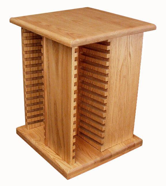 Hardwood Small CD Tower From DutchCrafters Amish Furniture