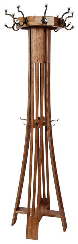 Hardwood Slat Mission Hall Tree From Dutchcrafters Amish