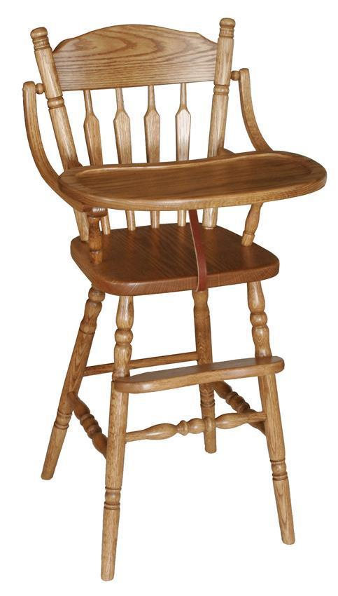 Heritage Wooden High Chair From Dutchcrafters Amish Furniture