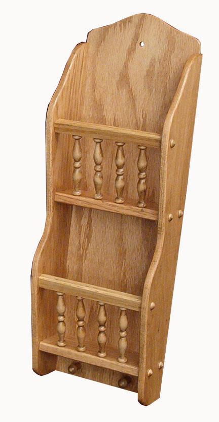 Oak Wood Letter Holder With Spindle From Dutchcrafters