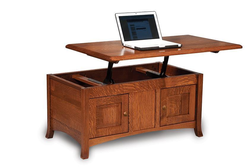 Amish Carlisle Enclosed Lift Top Coffee Table With Doors