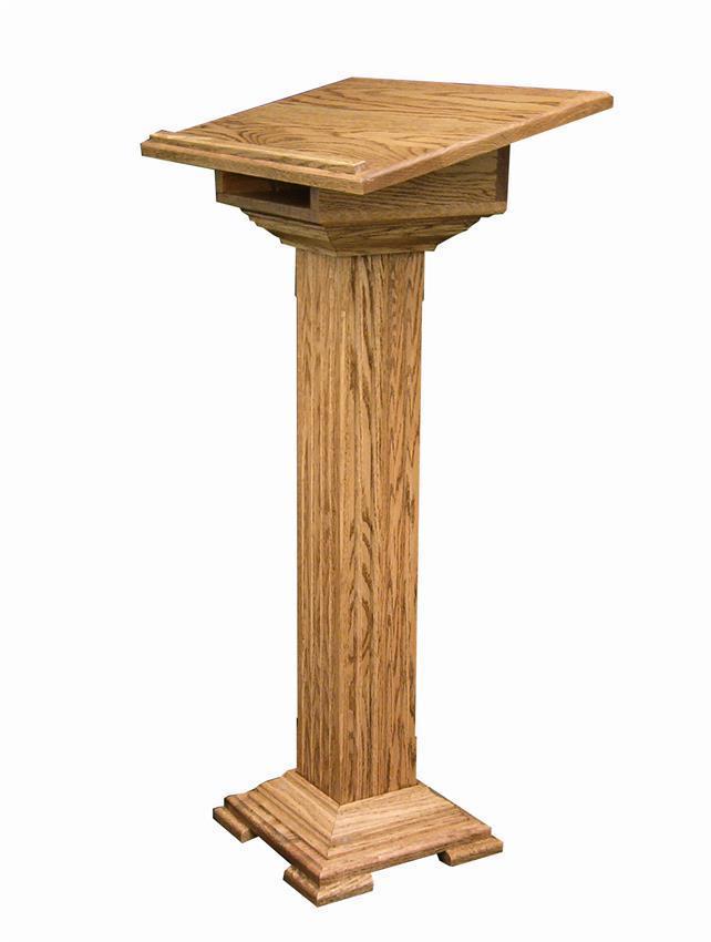 Hardwood Medium Podium From Dutchcrafters Amish Furniture