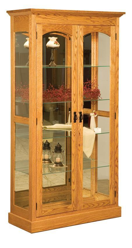 Solid Wood Mission Curio Cabinet From Dutchcrafters Amish
