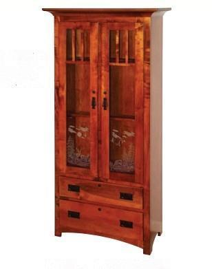 American Grizzly Solid Wood Wooden Gun Cabinet From