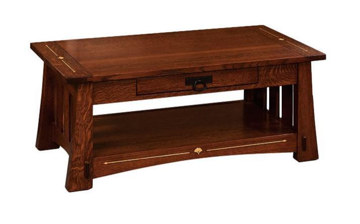 Tiny Craftsman Comes With Espresso Station: Amish Mesa Mission Coffee Table