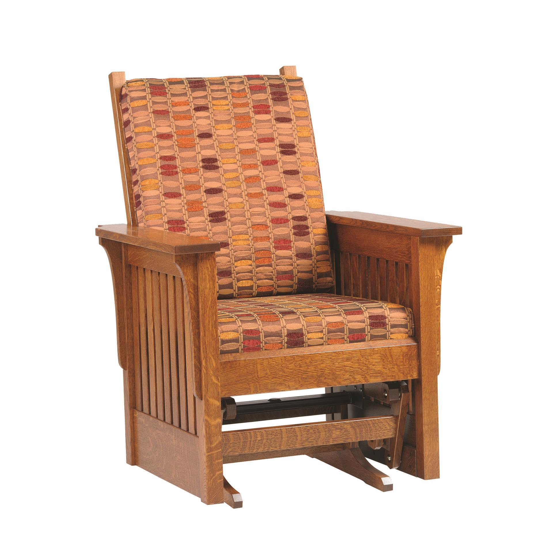 Wooden Mission Glider Chair From Dutchcrafters Amish Furniture