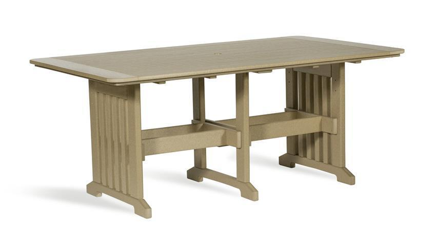 Leisure Lawns 6 Foot Rectangular Poly Lumber Patio Dining Table From
